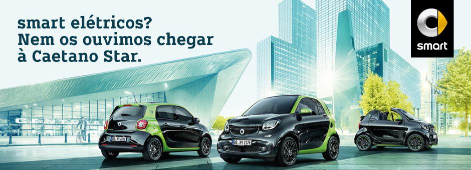 Gama elétrica da smart já disponível na Caetano Star